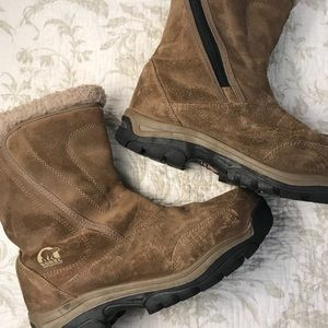 Sorel waterfall women's suede boots